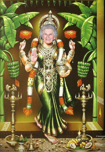 Lakshmi with My Mother'sFace